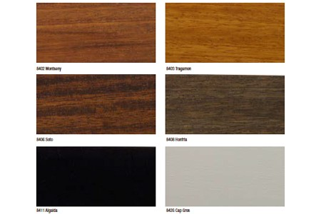 Colecci n valencia serie iroko - Colores maderas para muebles ...